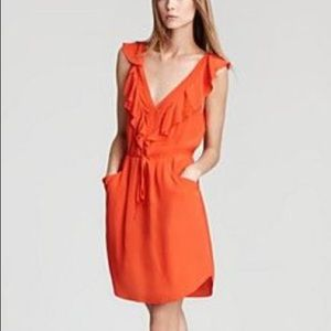 Rebecca Taylor 100% Silk Ruffle Sleeveless Dress